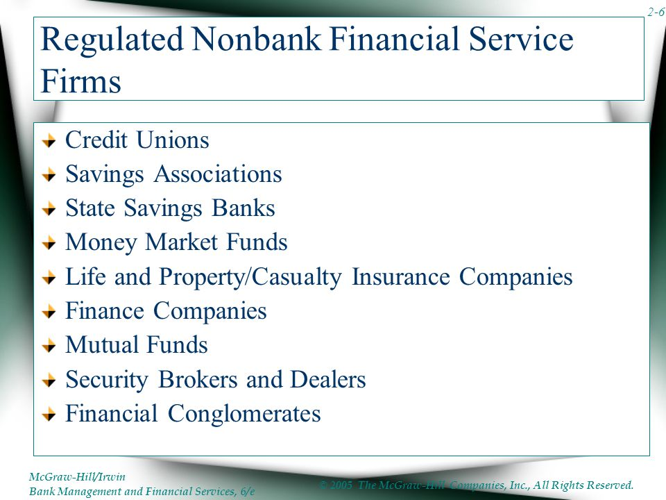 Regulated Nonbank Financial Service Firms