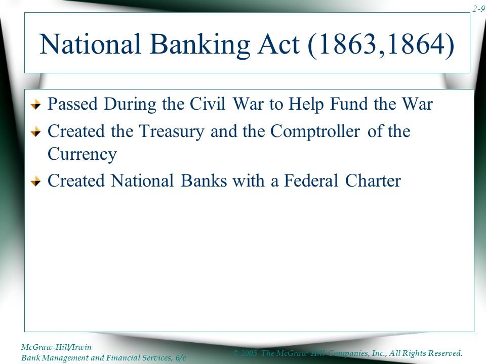National Banking Act (1863,1864)