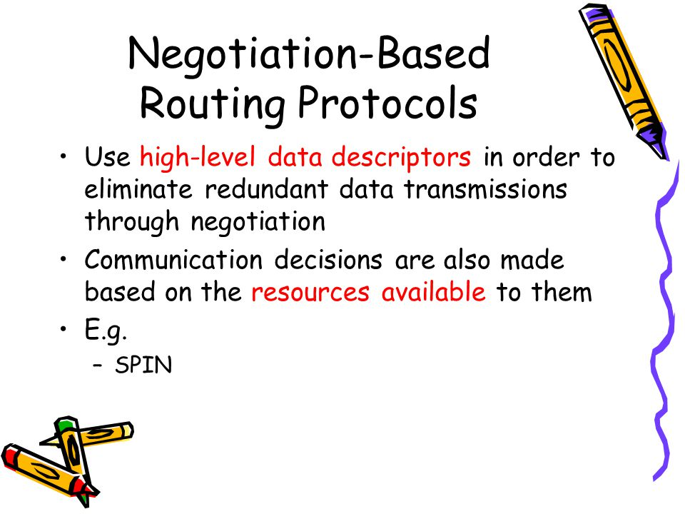 Negotiation-Based Routing Protocols