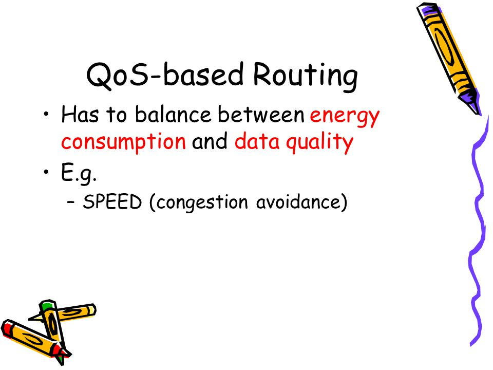 QoS-based Routing Has to balance between energy consumption and data quality.