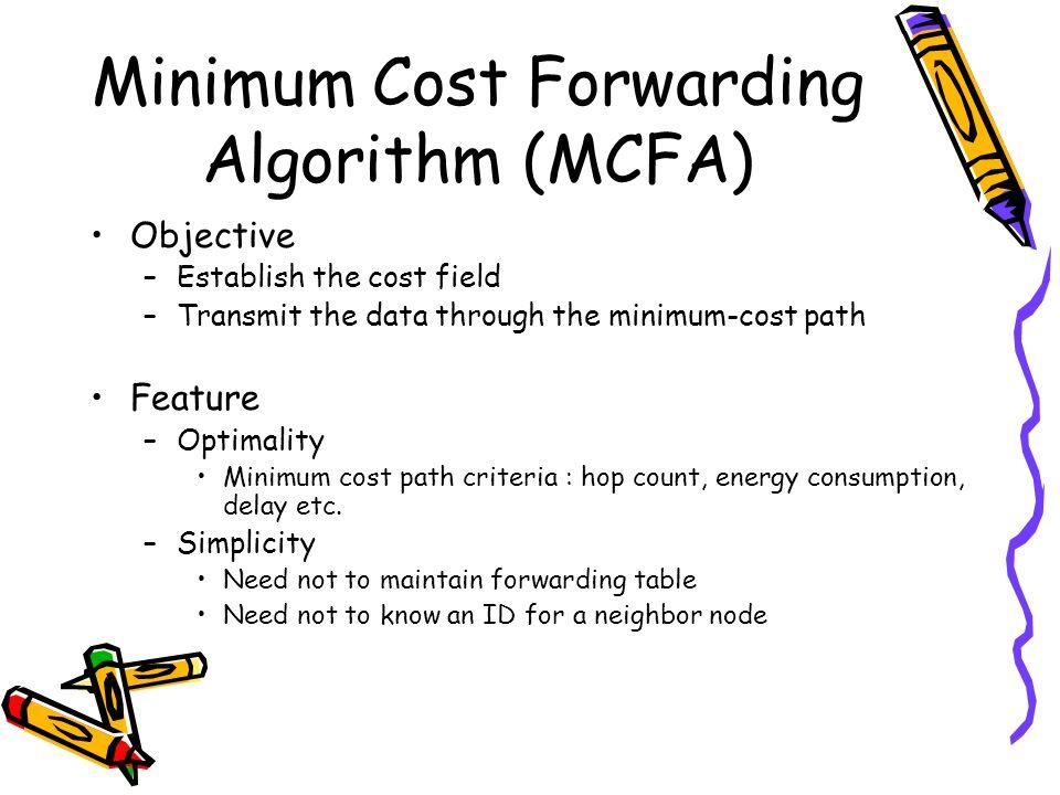 Minimum Cost Forwarding Algorithm (MCFA)