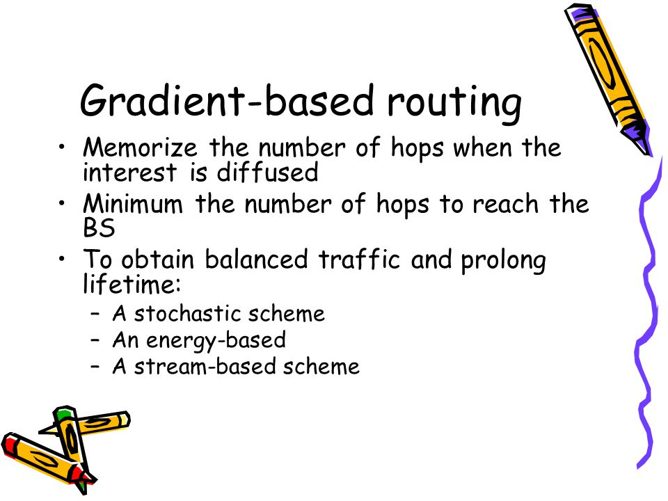 Gradient-based routing