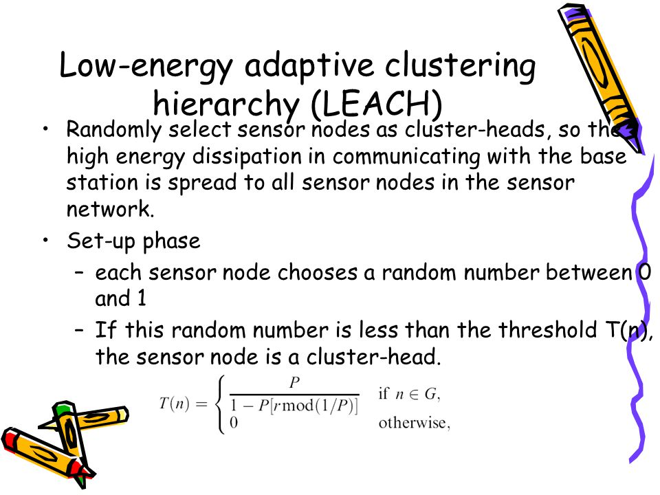 Low-energy adaptive clustering hierarchy (LEACH)