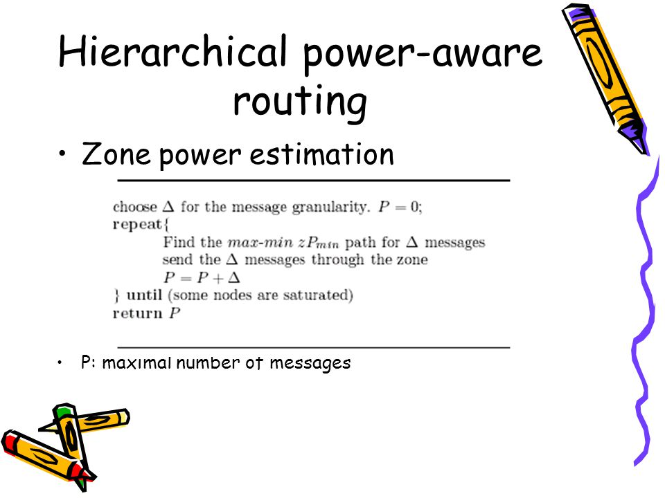 Hierarchical power-aware routing