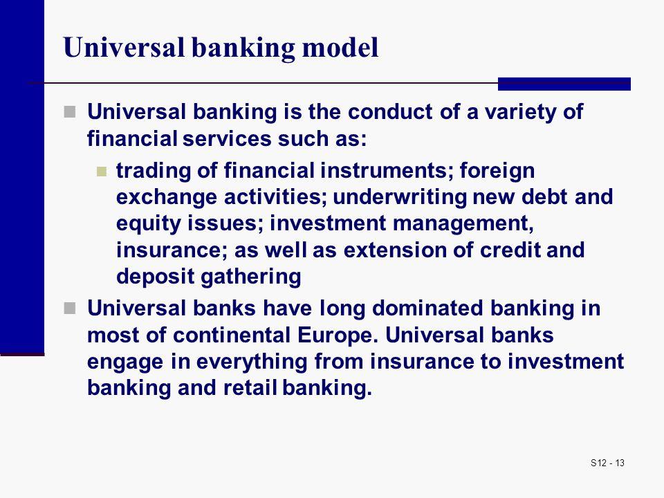 Universal banking model
