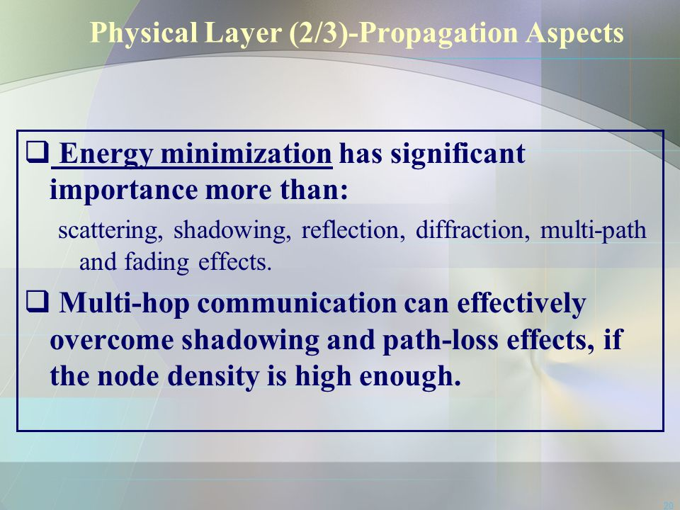 Physical Layer (2/3)-Propagation Aspects