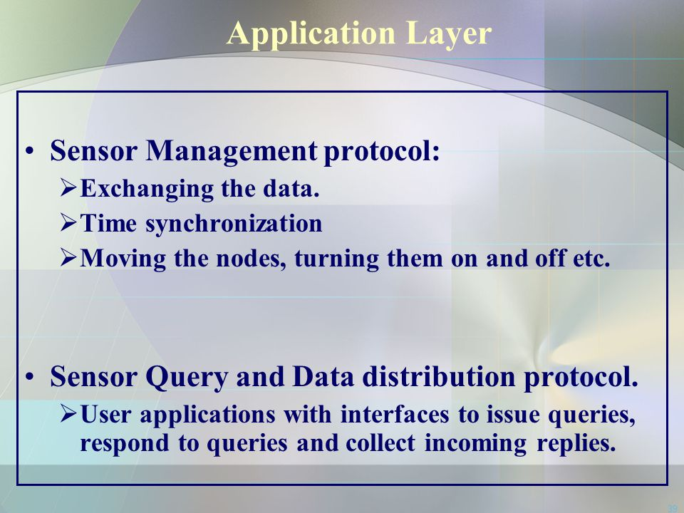 Application Layer Sensor Management protocol: