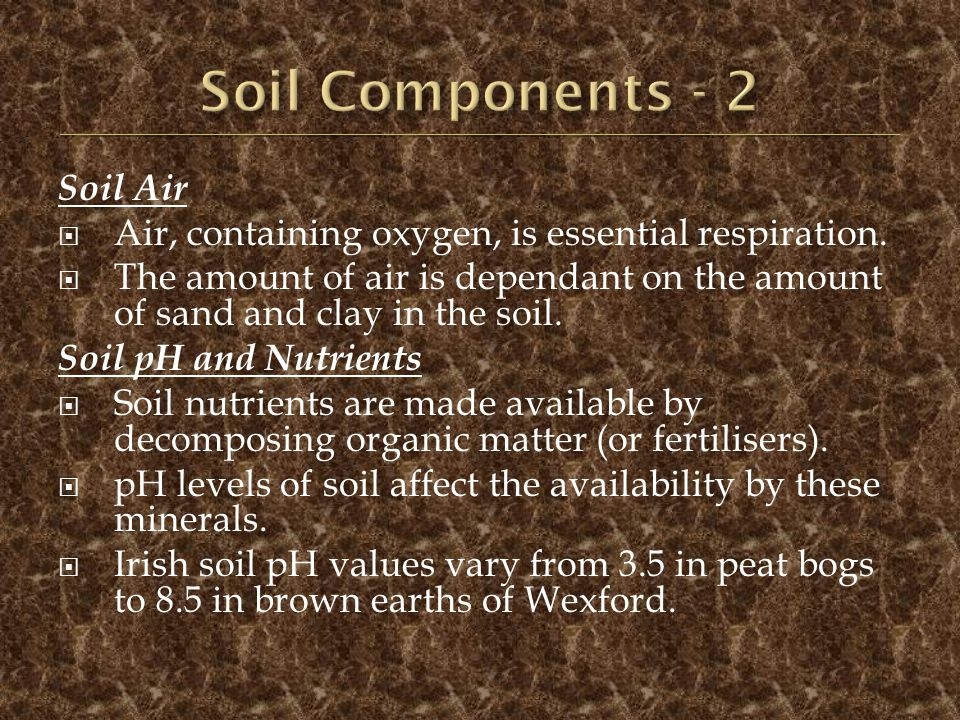 Soil Components - 2 Soil Air