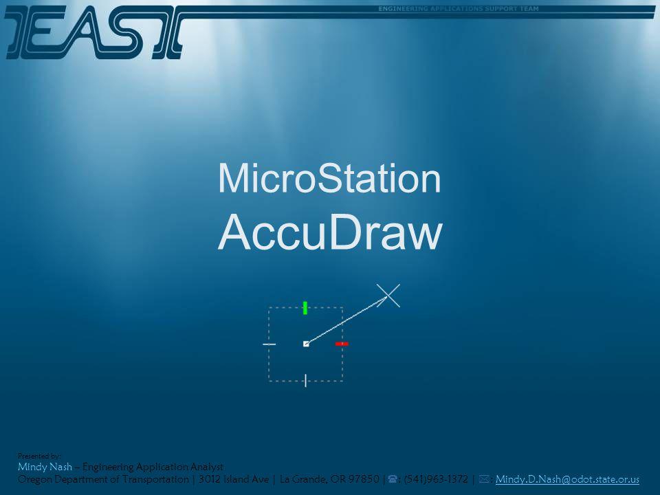 MicroStation AccuDraw