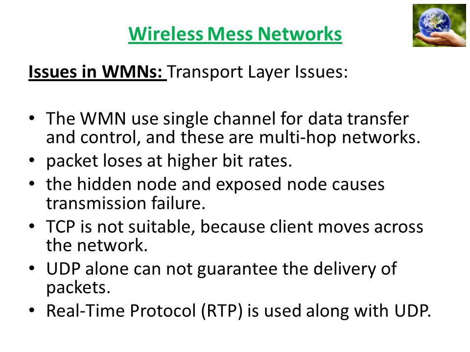 Wireless Mess Networks