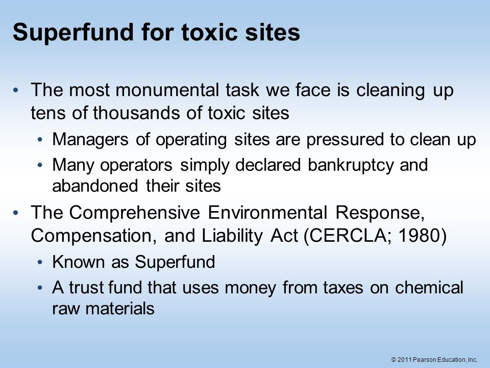 Superfund for toxic sites