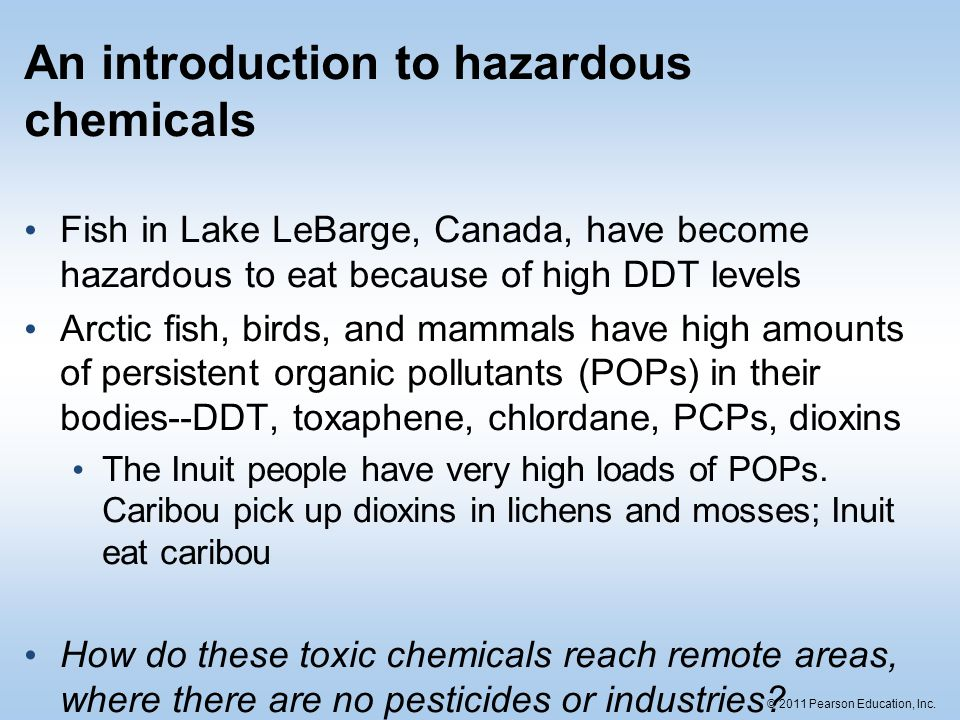 An introduction to hazardous chemicals