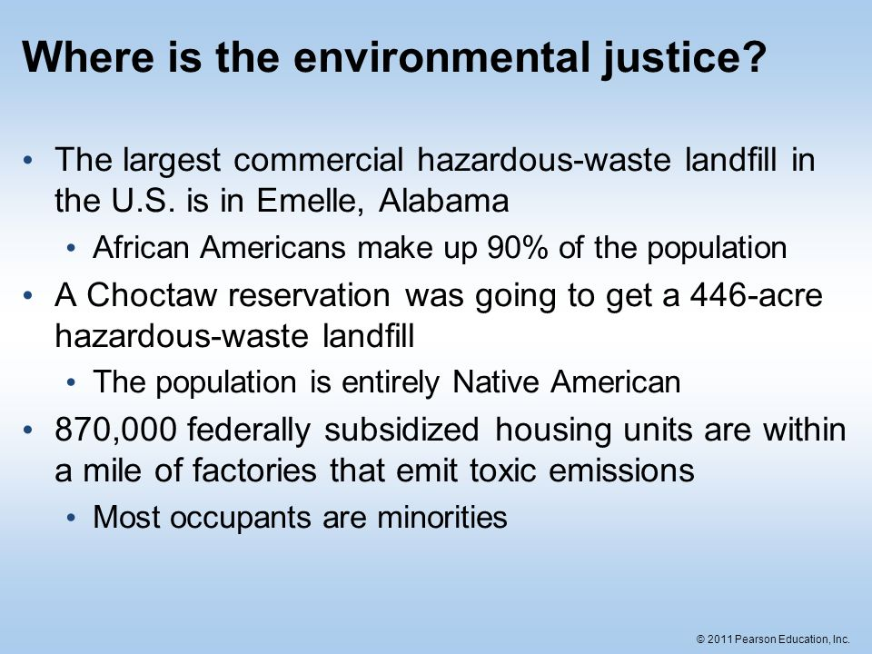 Where is the environmental justice