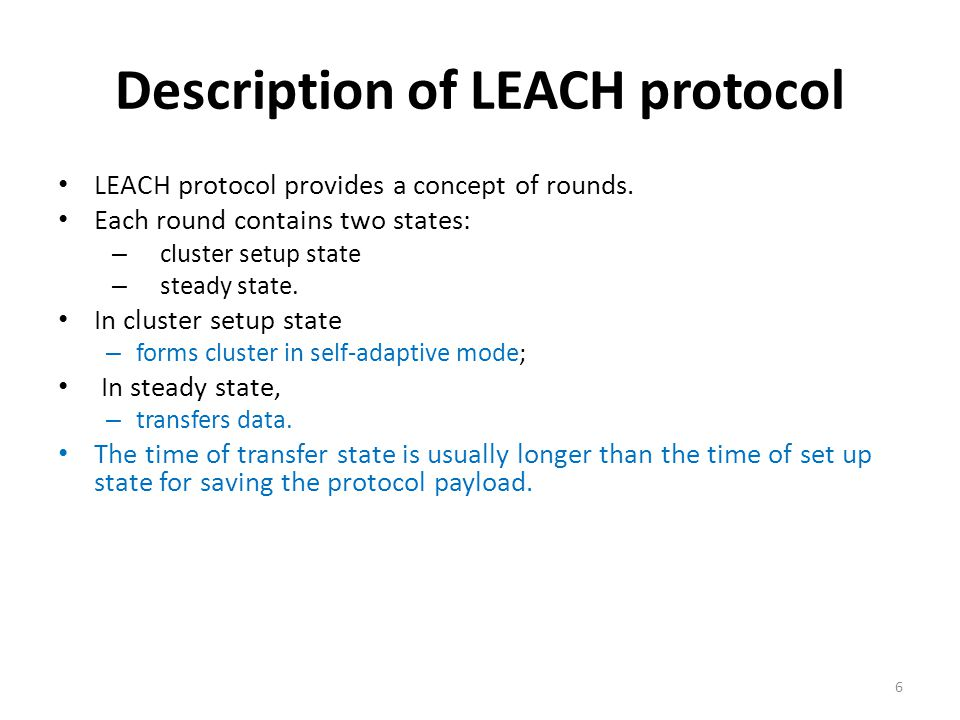 Description of LEACH protocol
