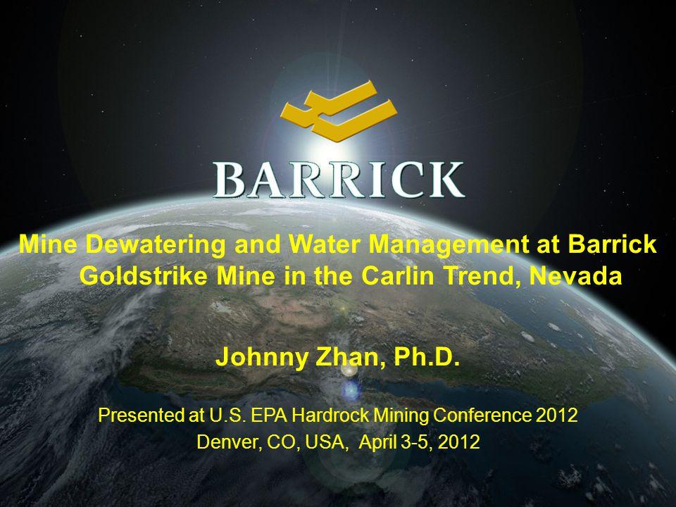 Presented at U.S. EPA Hardrock Mining Conference 2012