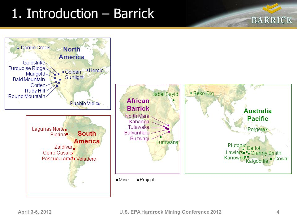 U.S. EPA Hardrock Mining Conference 2012
