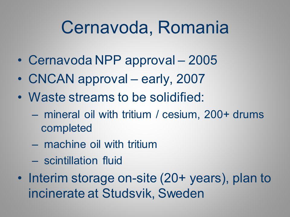 Cernavoda, Romania Cernavoda NPP approval – 2005