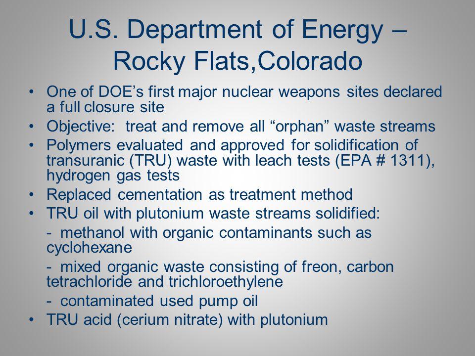U.S. Department of Energy – Rocky Flats,Colorado
