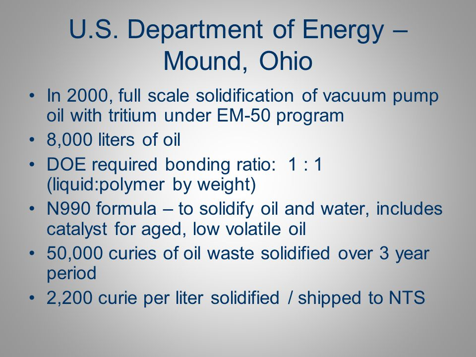 U.S. Department of Energy – Mound, Ohio