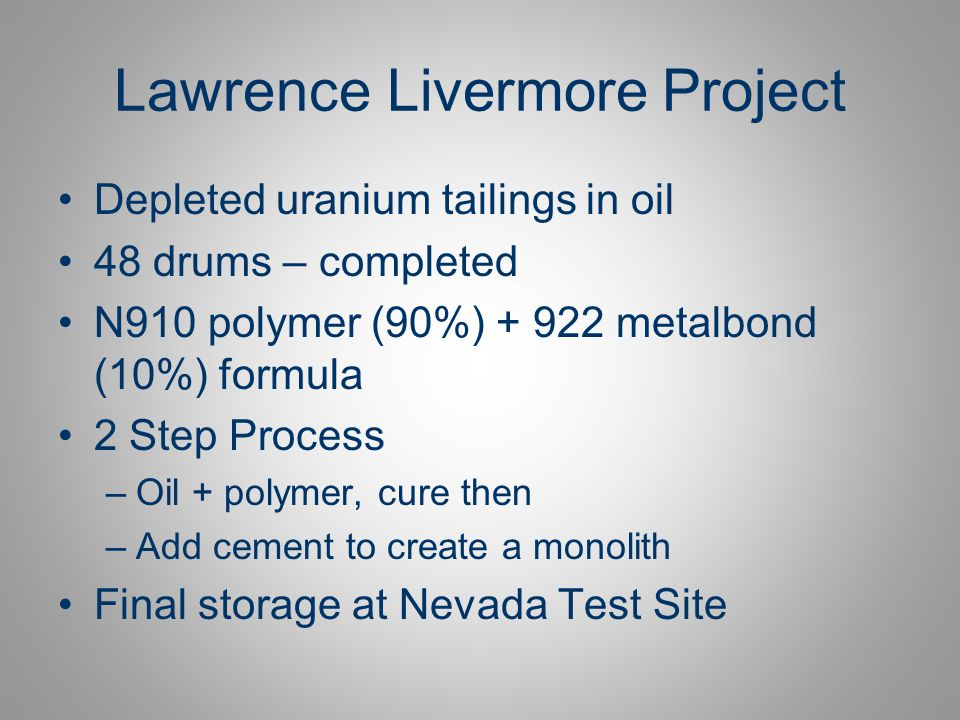Lawrence Livermore Project