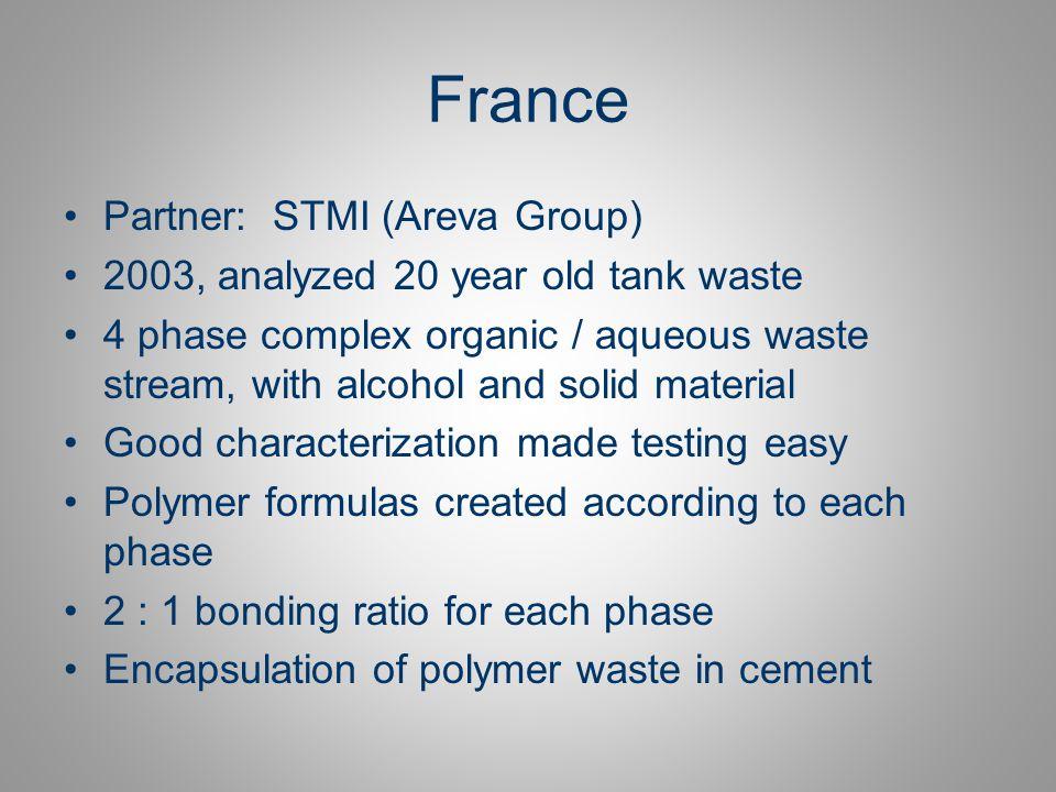 France Partner: STMI (Areva Group)