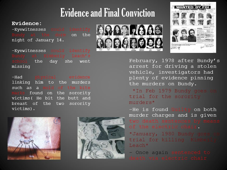 Evidence and Final Conviction