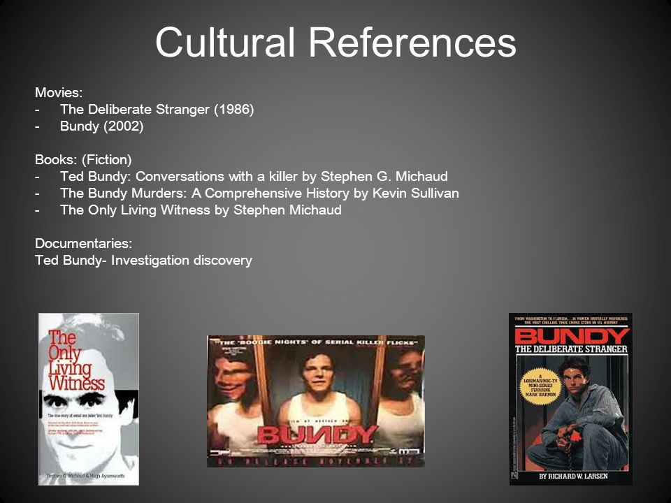 Cultural References Movies: The Deliberate Stranger (1986)