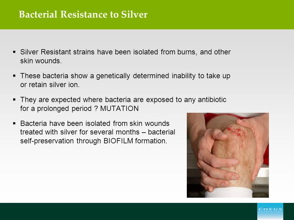 Bacterial Resistance to Silver