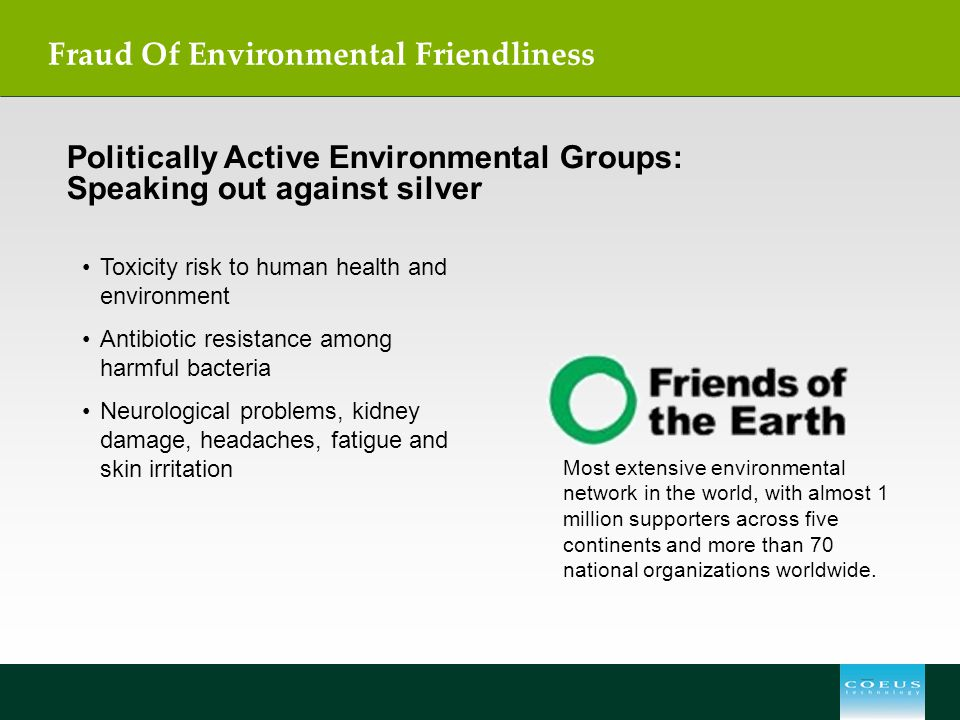 Fraud Of Environmental Friendliness