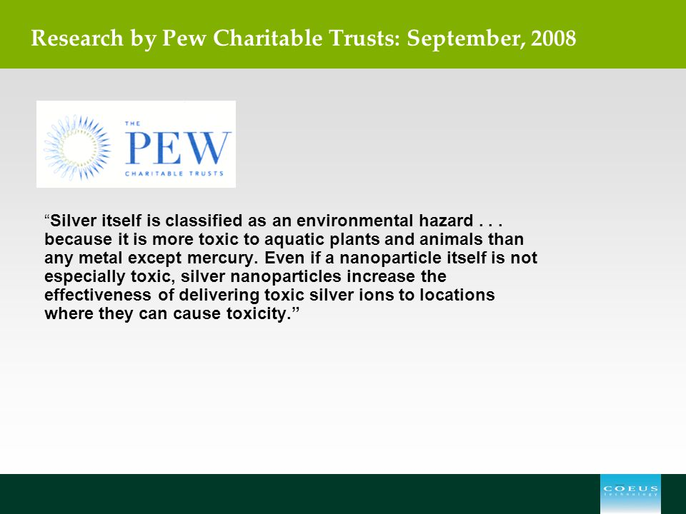 Research by Pew Charitable Trusts: September, 2008