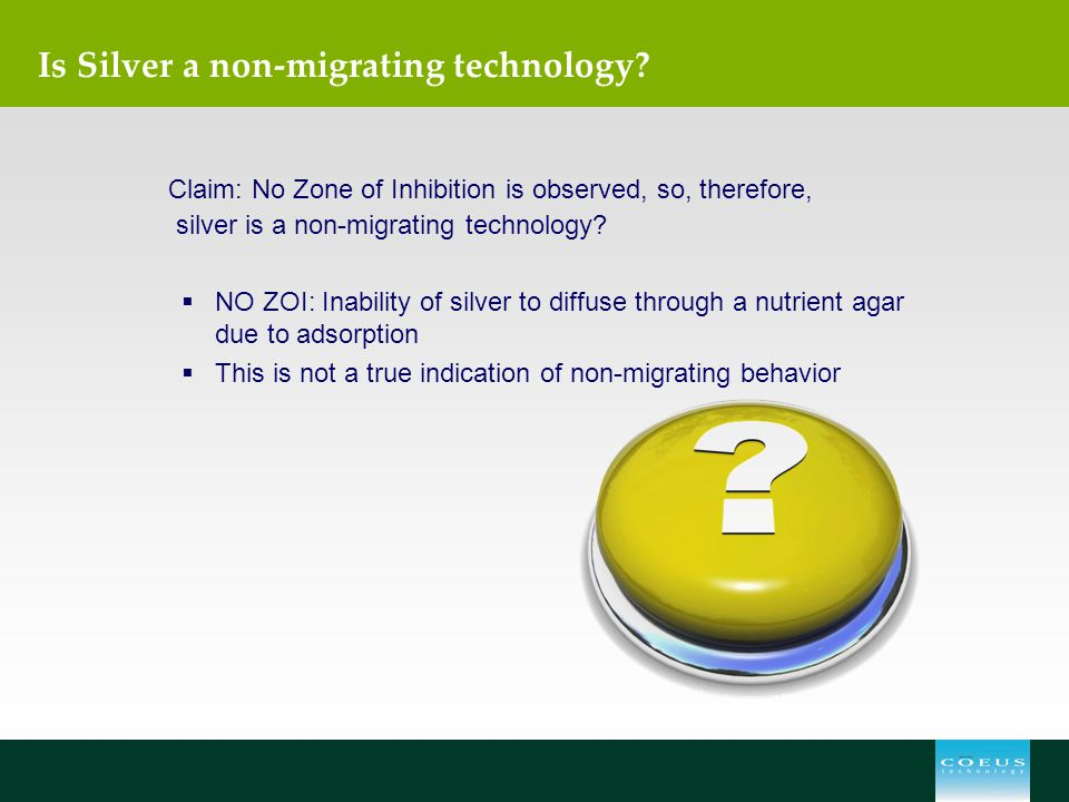 Is Silver a non-migrating technology
