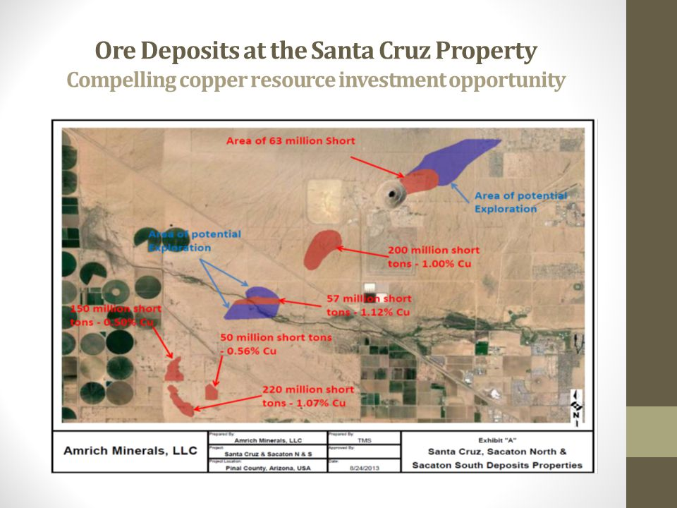Ore Deposits at the Santa Cruz Property Compelling copper resource investment opportunity