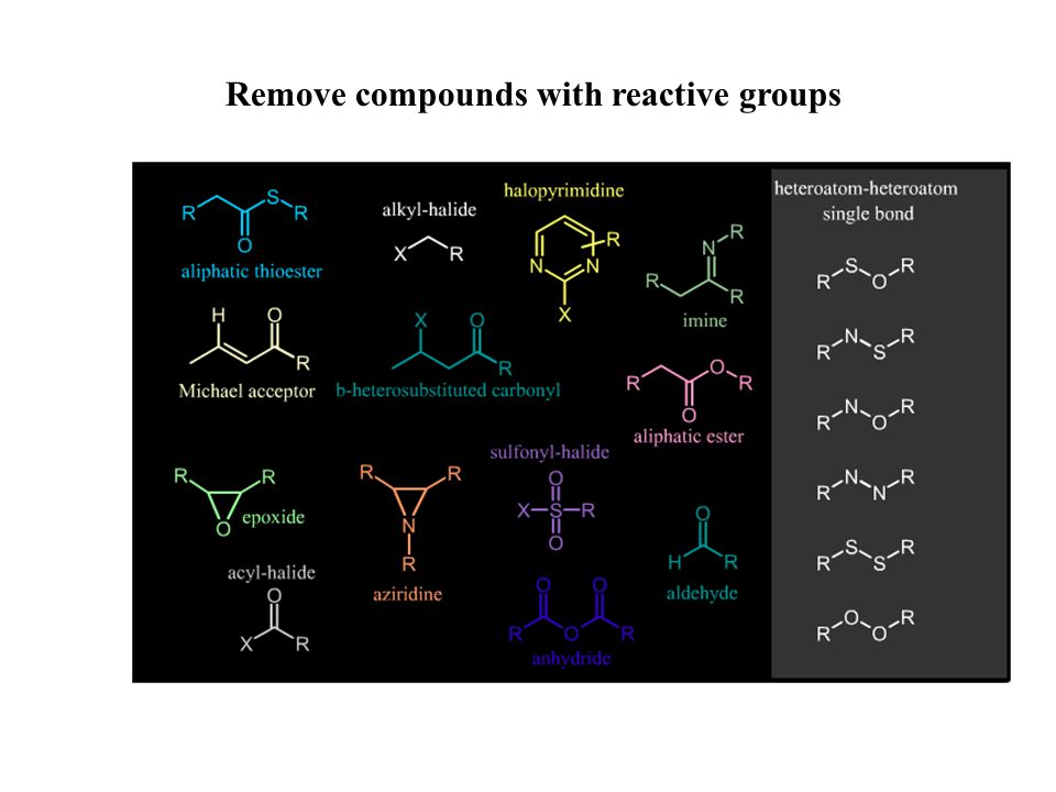 Remove compounds with reactive groups