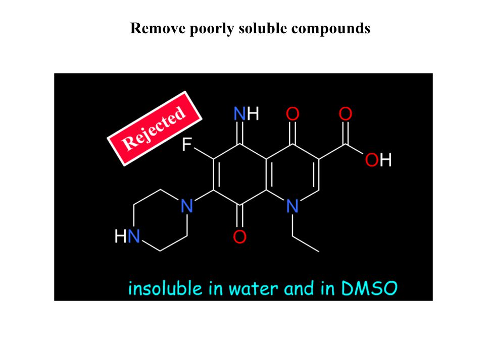 Remove poorly soluble compounds