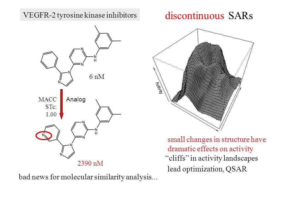 discontinuous SARs VEGFR-2 tyrosine kinase inhibitors