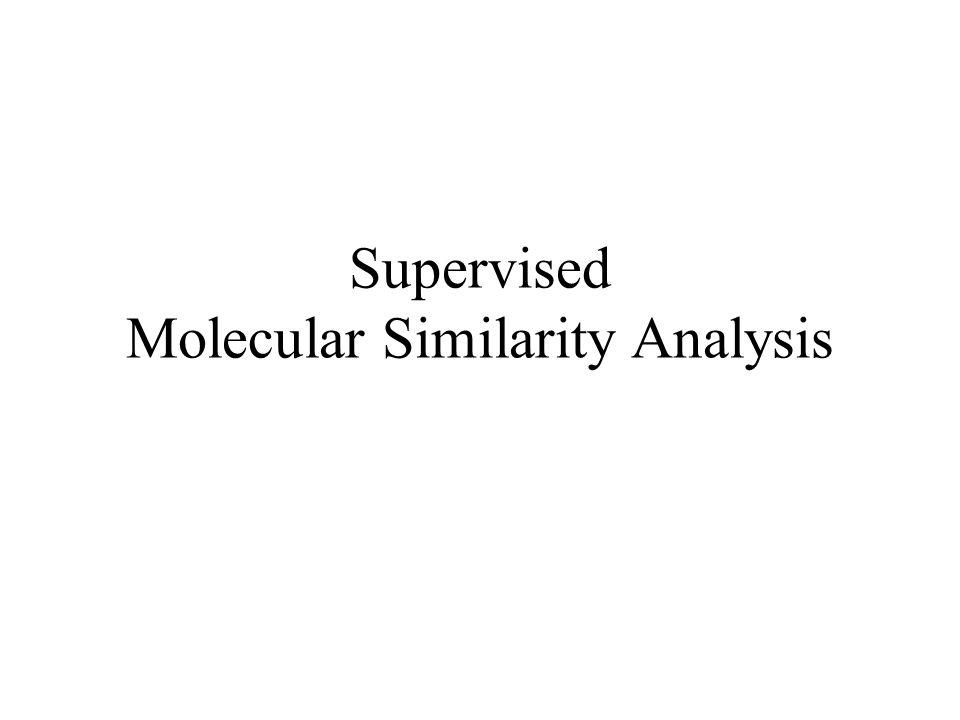 Supervised Molecular Similarity Analysis