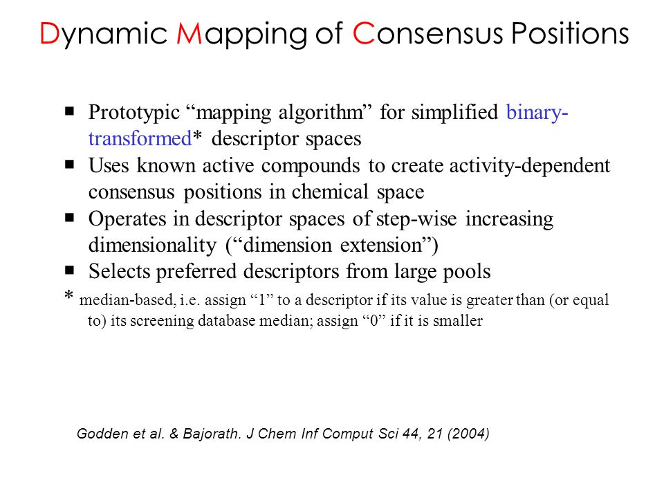 Dynamic Mapping of Consensus Positions