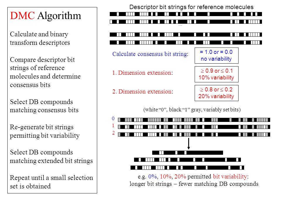DMC Algorithm Calculate and binary transform descriptors