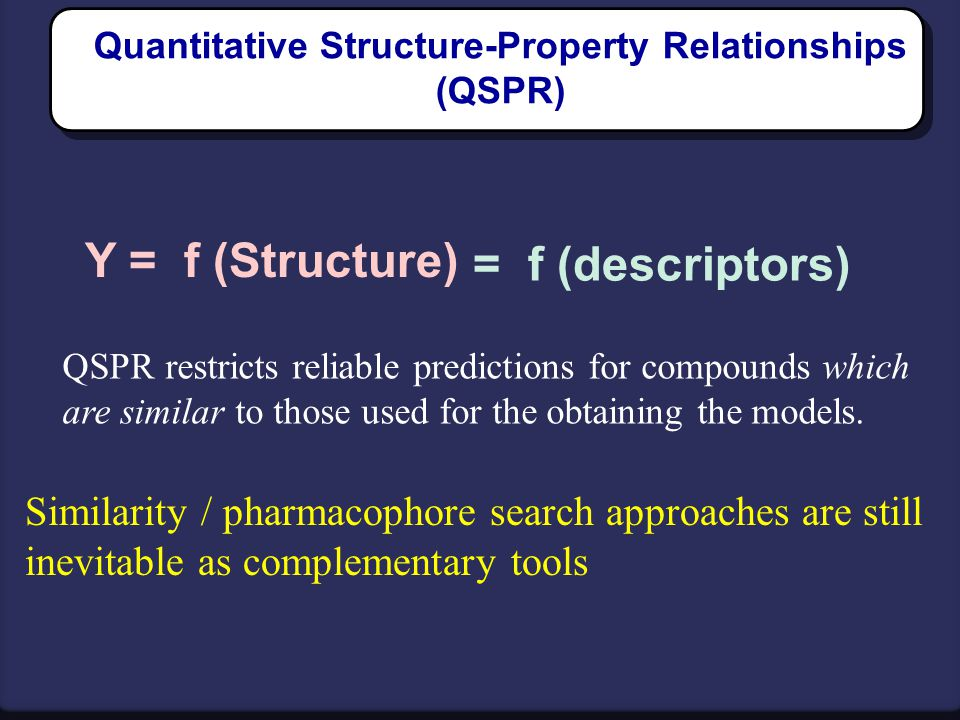 Quantitative Structure-Property Relationships