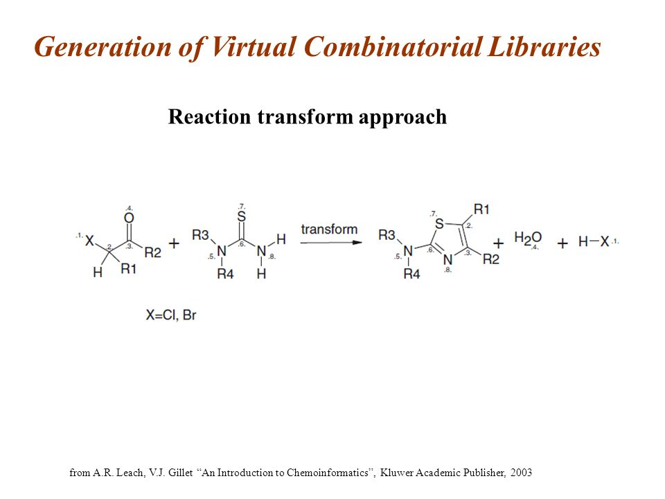 Generation of Virtual Combinatorial Libraries