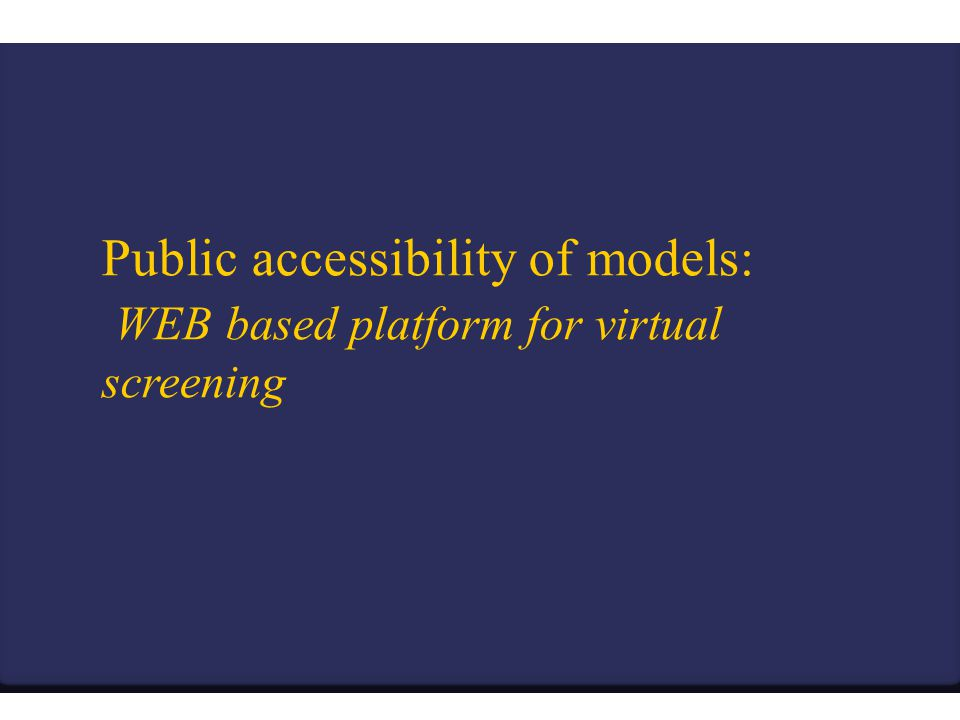 Public accessibility of models: