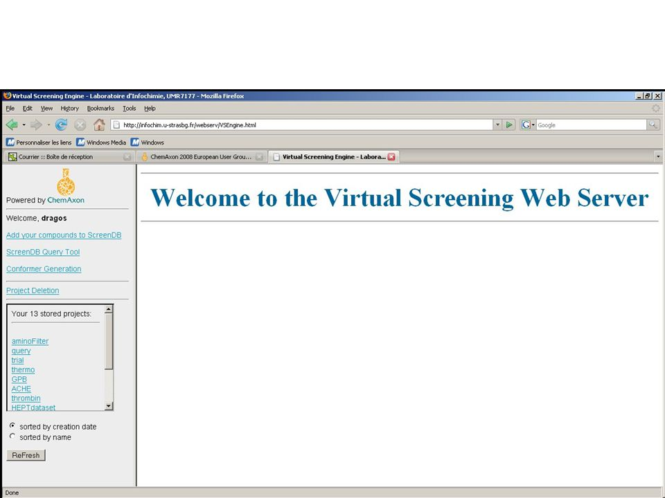 Some Screen Shots: Welcome Page…