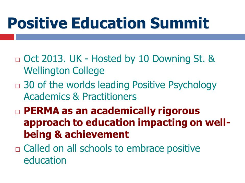 Positive Education Summit