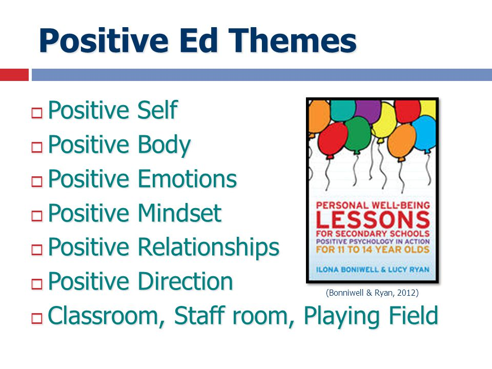 Positive Ed Themes Positive Self Positive Body Positive Emotions