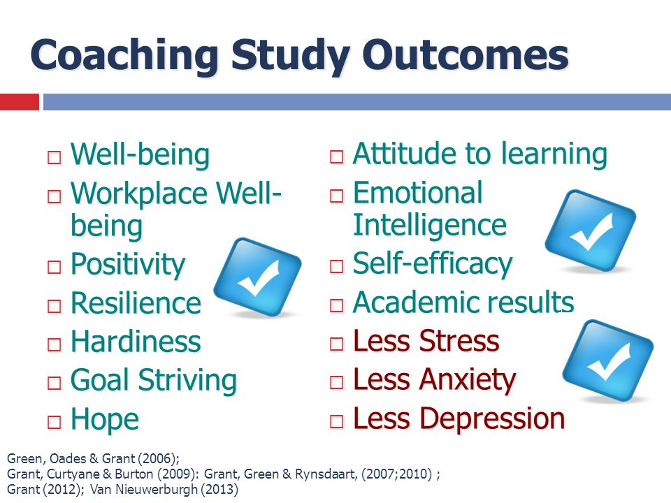 Coaching Study Outcomes