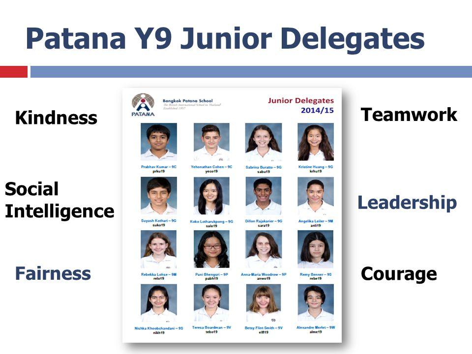 Patana Y9 Junior Delegates