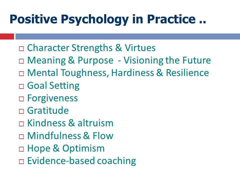 Positive Psychology in Practice ..