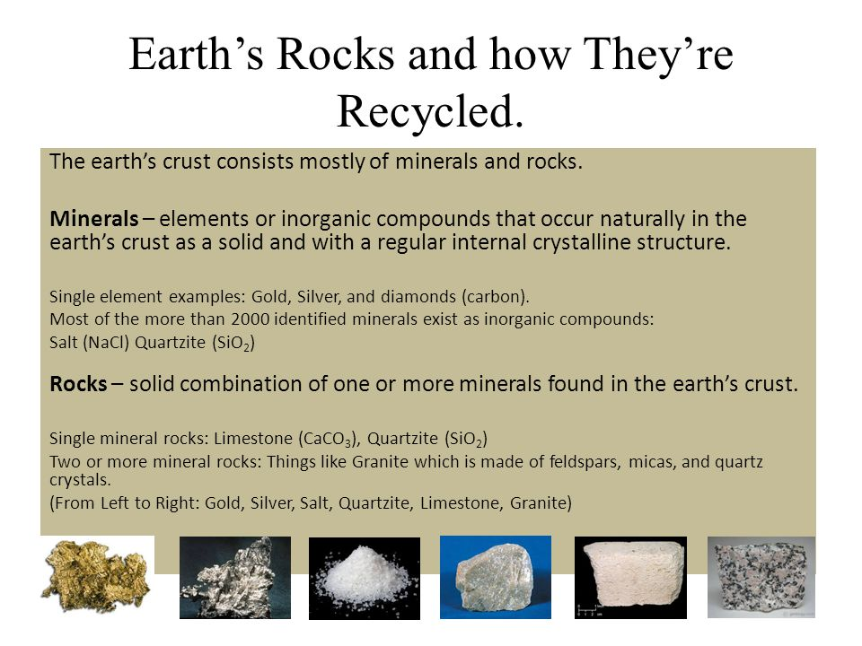 Earth's Rocks and how They're Recycled.