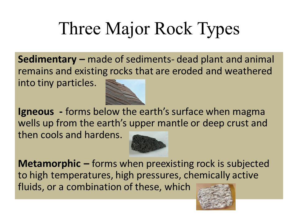Three Major Rock Types