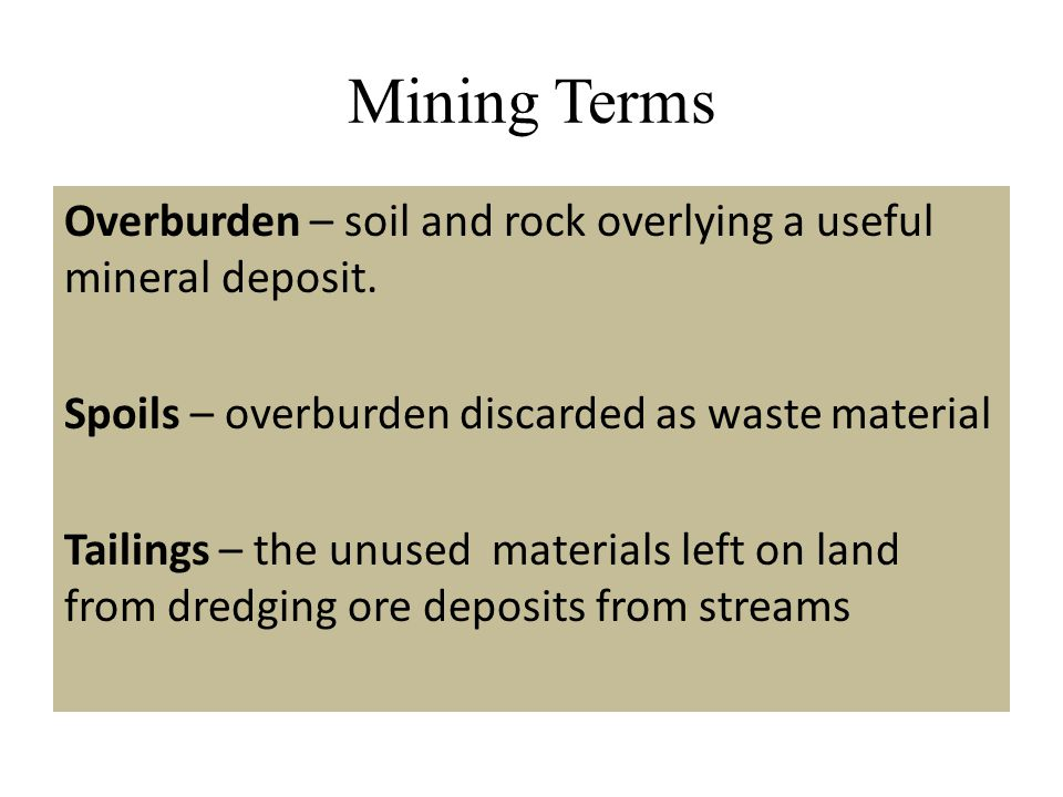 Mining Terms